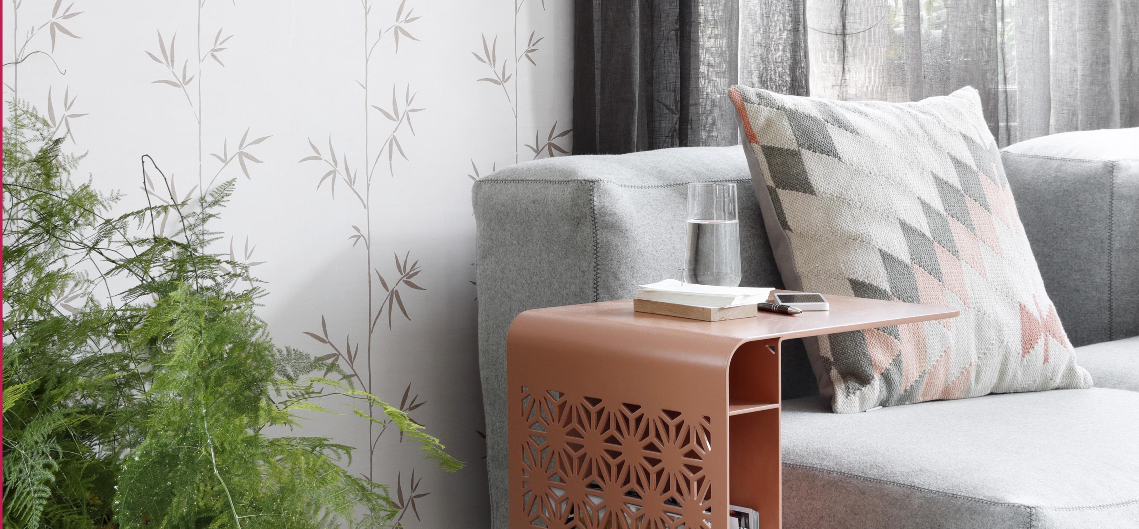 papel pintado con diseño de bambú