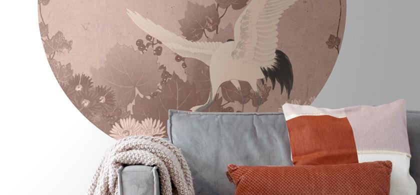 mural decorativo autoadhesivo redondo