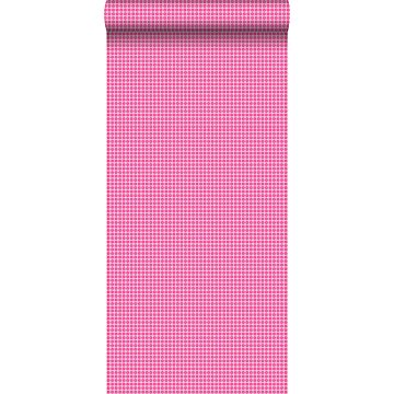 papel pintado puntos lunares psicodélicos rosa de ESTA home