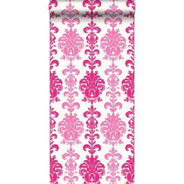 papel pintado barroco rosa de ESTA home