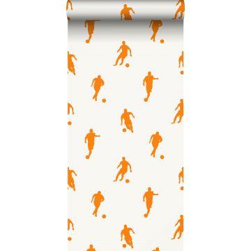 papel pintado jugadores de fútbol naranja y blanco de ESTA home