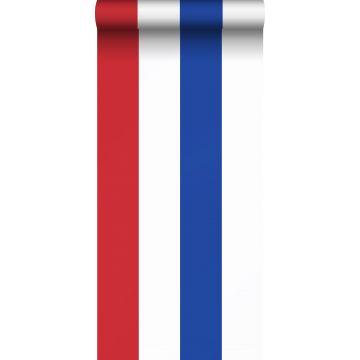 papel pintado rayas rojo, blanco y azul de ESTA home