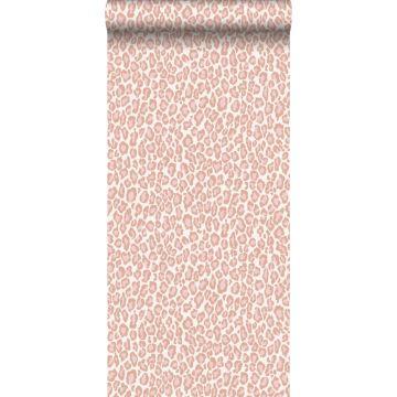 papel pintado piel de leopardo rosa melocotón de ESTA home