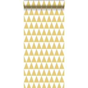 papel pintado triángulos gráficos amarillo ocre de ESTA home