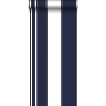 papel pintado rayas azul marino de ESTA home