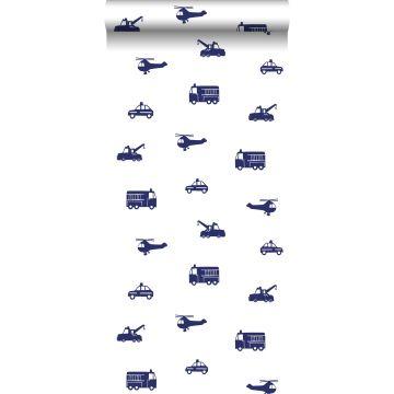 papel pintado coches azul de ESTA home
