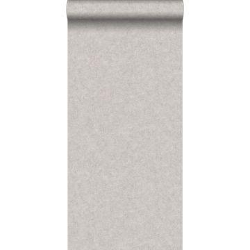 papel pintado liso efecto hormigón gris pardo de ESTA home