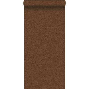 papel pintado liso efecto hormigón marrón herrumbre de ESTA home