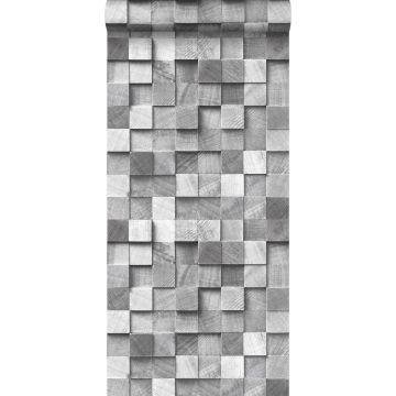 papel pintado diseño 3D gris de ESTA home