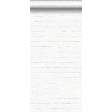 papel pintado pared de ladrillos blanco de ESTA home
