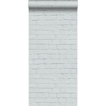 papel pintado pared de ladrillos gris claro de ESTA home