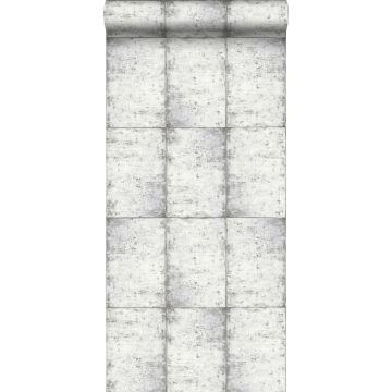 papel pintado láminas de zinc gris claro cálido de ESTA home