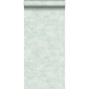 papel pintado efecto hormigón verde menta pastel claro de ESTA home