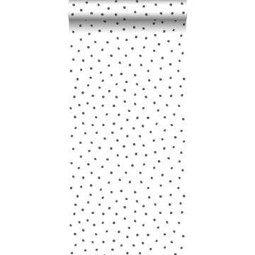 papel pintado puntos negro y blanco de ESTA home