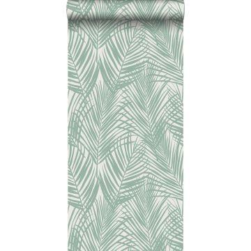 papel pintado hojas de palmera menta verde de ESTA home