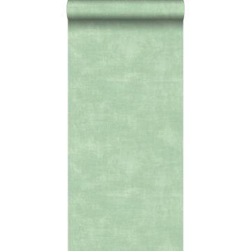 papel pintado aspecto de hormigón menta verde de ESTA home