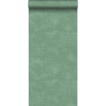 papel pintado aspecto de hormigón verde de ESTA home