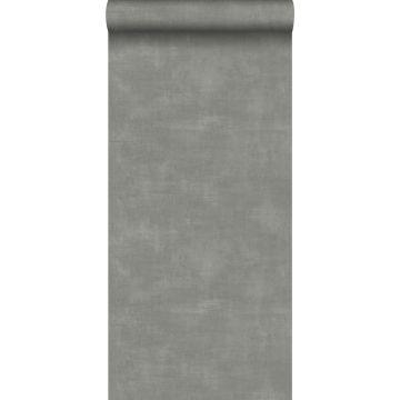 papel pintado aspecto de hormigón gris oscuro de ESTA home