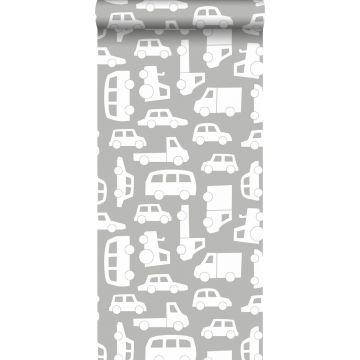 papel pintado coches gris cálido de ESTA home