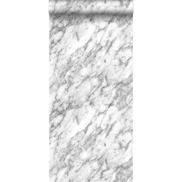 papel pintado marmol blanco y negro de ESTA home