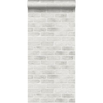 papel pintado pared de ladrillos gris de ESTA home