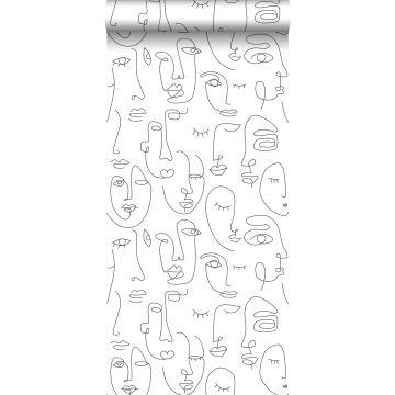 papel pintado caras blanco y negro de ESTA home