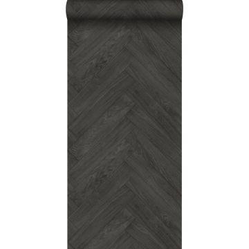 papel pintado madera gris oscuro de ESTA home