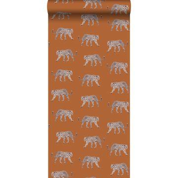 papel pintado pantera naranja cálido de ESTA home