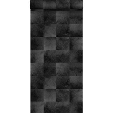 papel pintado piel de animal negro de ESTA home