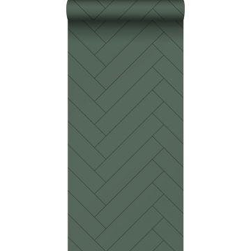 papel pintado chevron verde oscuro de ESTA home