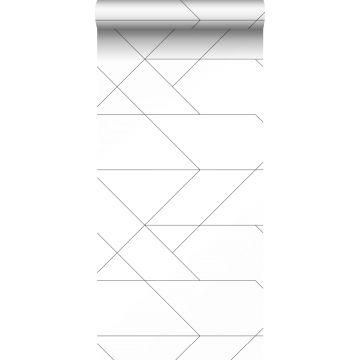papel pintado líneas gráficas blanco y negro de ESTA home