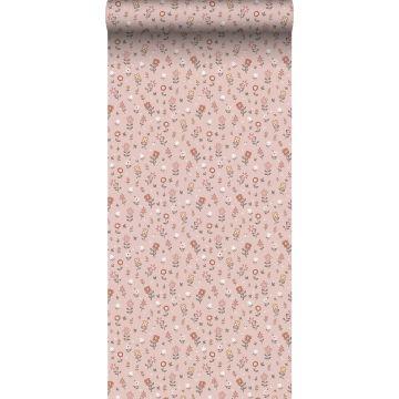papel pintado flores rosa suave de ESTA home
