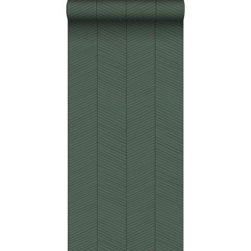 papel pintado chevron verde y negro de ESTA home