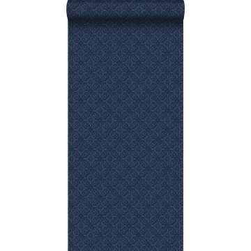 papel pintado diseño oriental azul de ESTA home