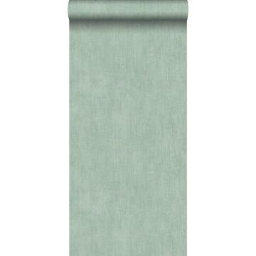 papel pintado liso con efecto pictórico verde celadón de ESTA home