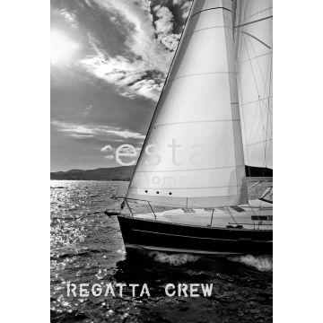fotomural velero negro y blanco de ESTA home