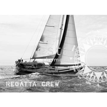 fotomural yachting vela negro y blanco de ESTA home