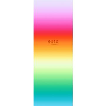 fotomural arco iris rosa, rojo y naranja de ESTA home