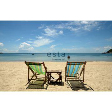 fotomural playa azul y beige de ESTA home