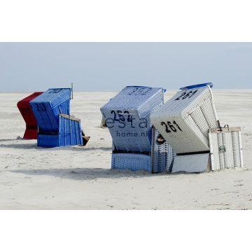 fotomural silla de playa azul y beige de ESTA home