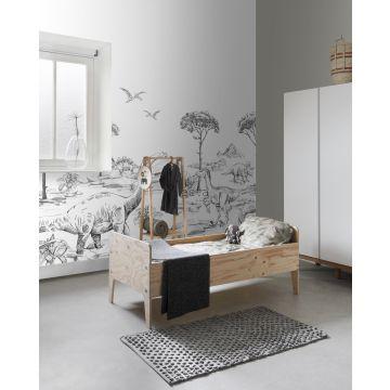 fotomural habitación de niño dinosaurios blanco y negro 159063