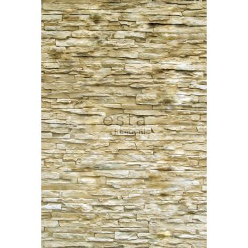fotomural pared de ladrillo moderna beige de ESTA home