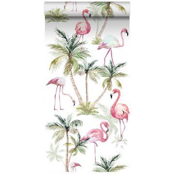 papel pintado XXL flamencos rosa de ESTA home