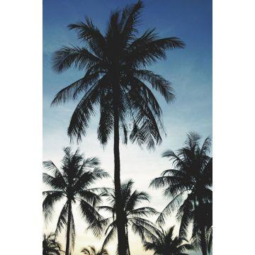 fotomural palmeras azul, negro y beige de ESTA home