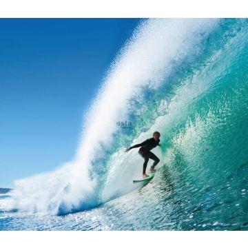 fotomural surfista azul y verde mar de ESTA home