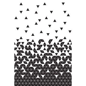 fotomural triángulos blanco y negro de ESTA home