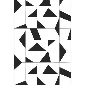 fotomural motivo de azulejo blanco y negro de ESTA home