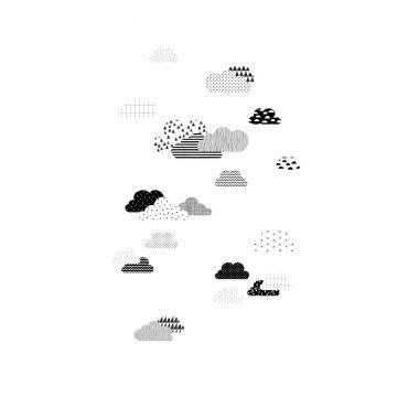 fotomural nubes blanco y negro de ESTA home
