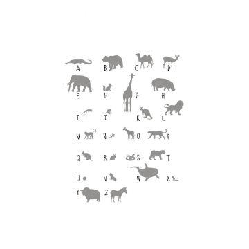 fotomural animales ABC gris de ESTA home