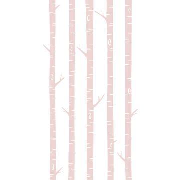 fotomural troncos de abedul rosa suave de ESTA home